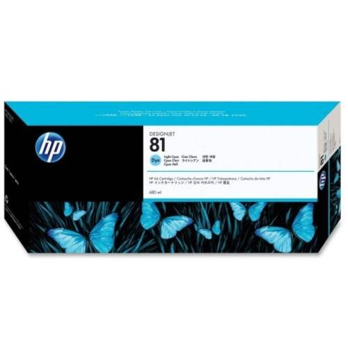 HP 81 DesignJet Dye Ink Cartridge 680-ml - Cyan (C4931A)