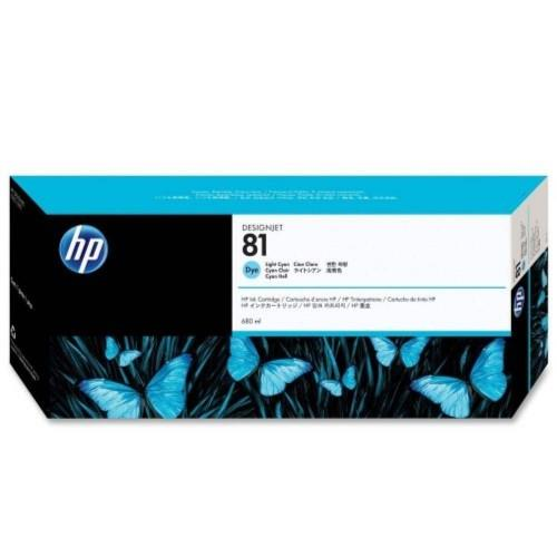 HP 81 DesignJet Dye Ink Cartridge 680-ml - Light Cyan (C4934A)