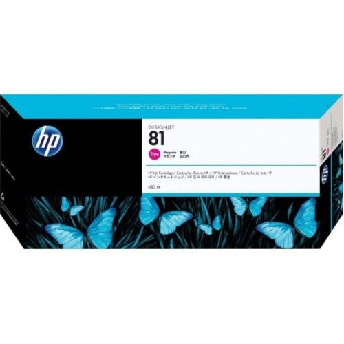 HP 81 DesignJet Dye Ink Cartridge 680-ml - Magenta (C4932A)