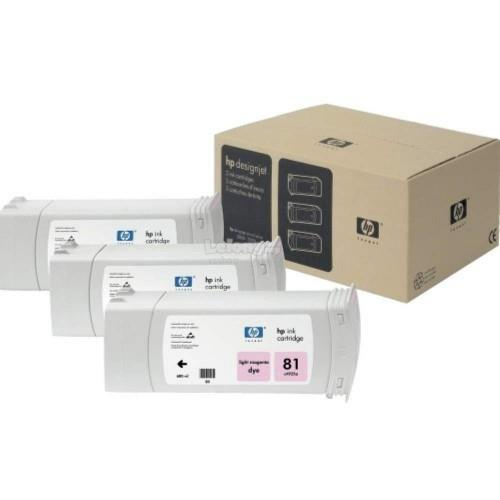 HP 81 Dye Cartridges (3-pack) 680-ml - Light Magenta (C5071A)