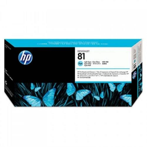 HP 81 Light Cyan Dye Printhead and Printhead Cleaner (C4954A)