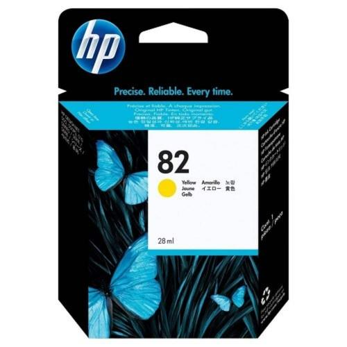 HP 82 DesignJet Ink Cartridge 28-ml Yellow (CH568A)