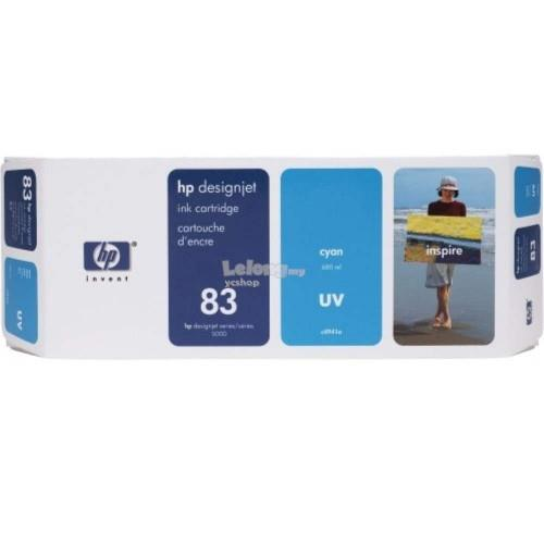 HP 83 DesignJet UV Ink Cartridge 680-ml - Cyan (C4941A)
