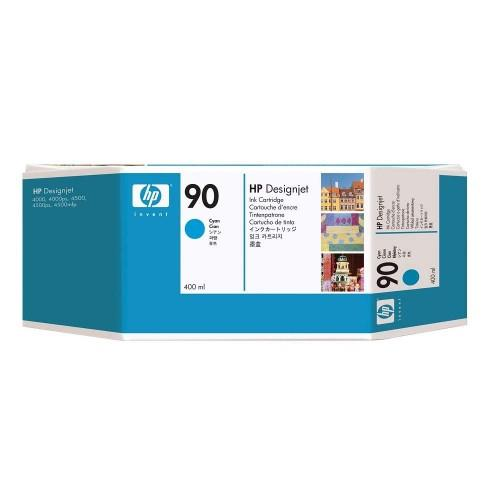 HP 90 3-pack 400ml Cyan Ink Cartridges (C5083A)