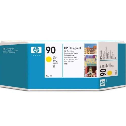 HP 90 DesignJet Ink Cartridge (3-pack) 400-ml Yellow (C5085A)