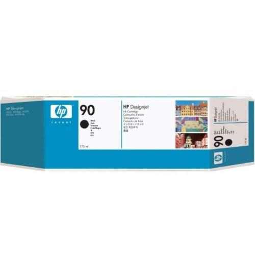 HP 90 DesignJet Ink Cartridge (3-pack) 775-ml Black (C5095A)