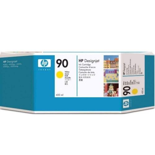 HP 90 DesignJet Ink Cartridge 400-ml Yellow (C5065A)