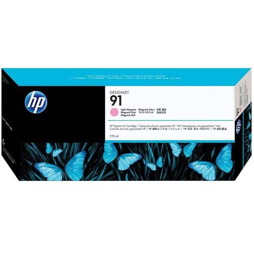 HP 91 DesignJet Pigment Ink Cartridge 775-ml - Light Magenta (C9471A)