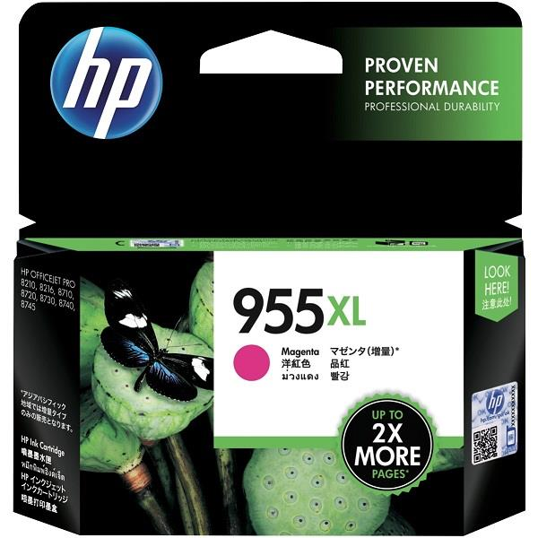 HP 955XL High Yield Magenta Ink (Genuine) L0S66AA 8210 8710 8720 8730