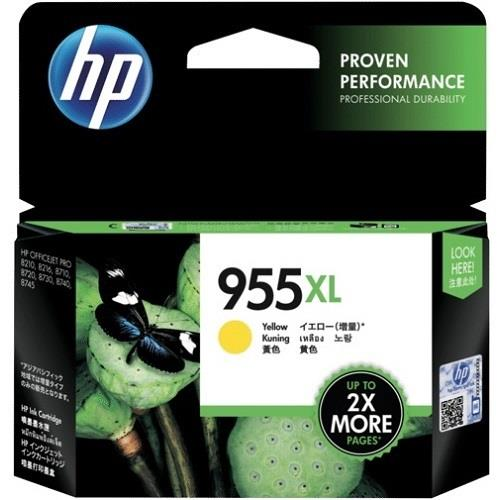 HP 955XL High Yield Yellow Ink (Genuine) L0S69AA 8210 8710 8720 8730
