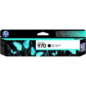 HP 970 Original & New Ink Cartridge Black CN621AA