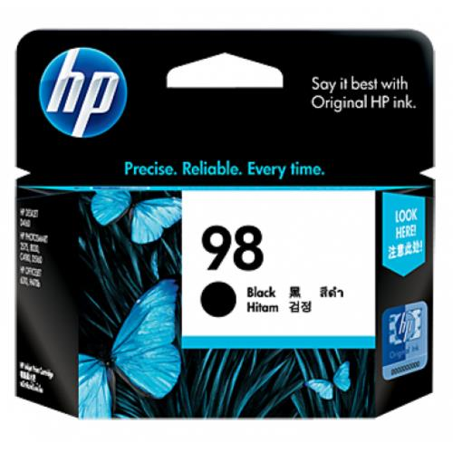 HP 98 Black Inkjet Print Cartridge (C9364WA)