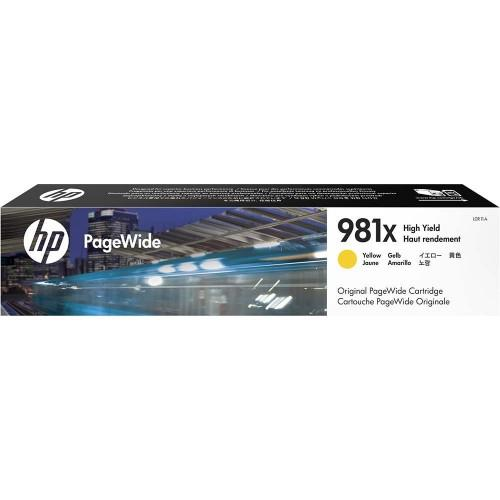 HP 981X High Yield Yellow Original PageWide Cartridge (L0R11A)