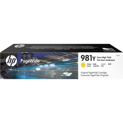 HP 981Y Extra High Yield Yellow Original PageWide Cartridge (L0R15A)