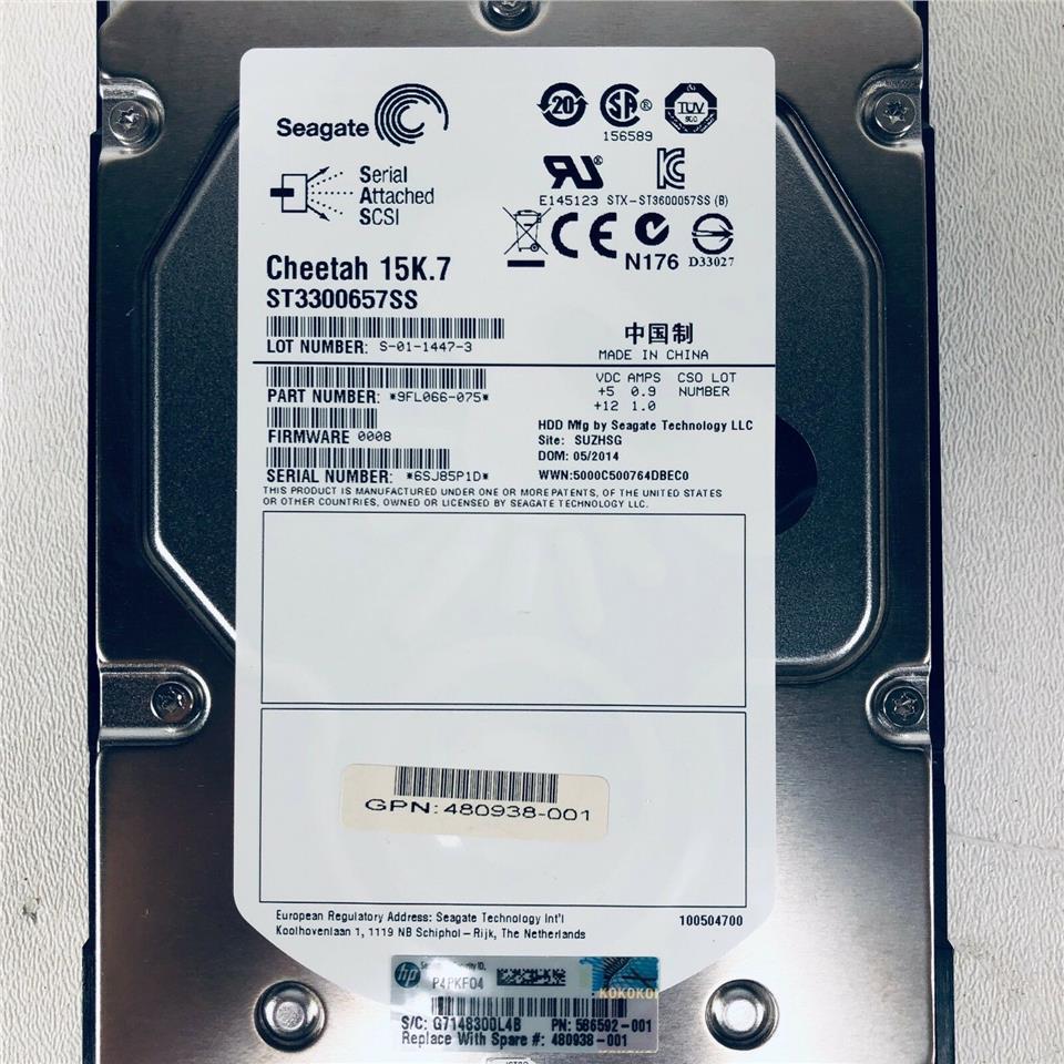 """HP AJ736A 480938-001 481272-001 300GB 15K 3.5/"""" MSA2 DP SAS HARD DRIVE"""