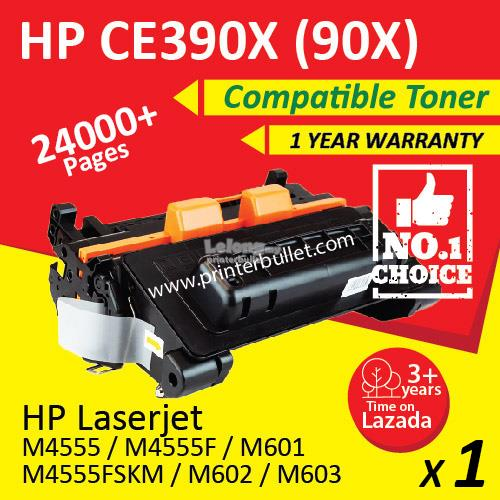 HP CE390X / 90X / CE390A / 90A High Quality Compatible Toner