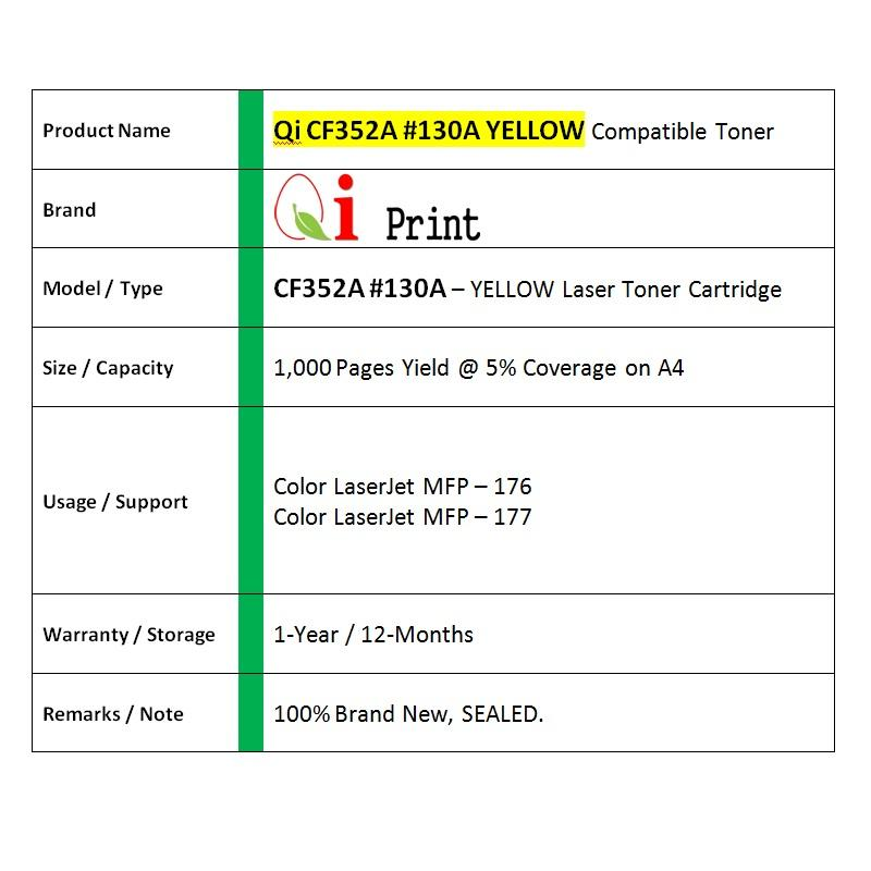 HP CF352A 130A MFP176 177 YELLOW Toner Compatible * NEW Sealed *