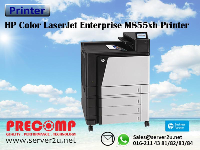 HP Color LaserJet Enterprise M855xh Printer (A2W78A)