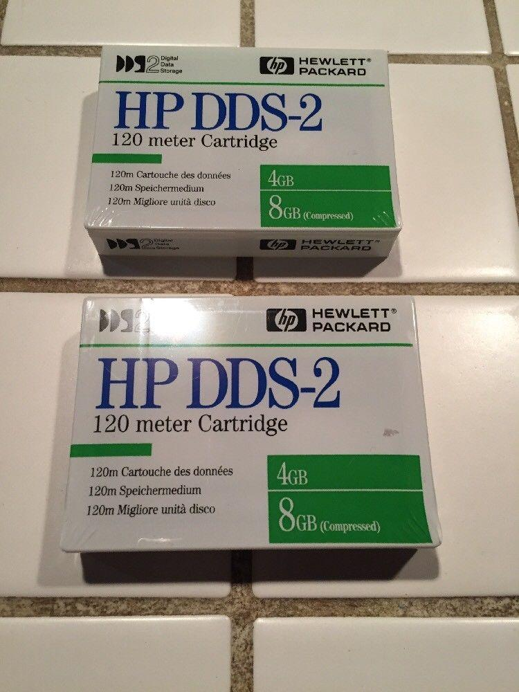 New HP DDS-2 120 meter 4gb/8gb (compressed) Data Cartridges