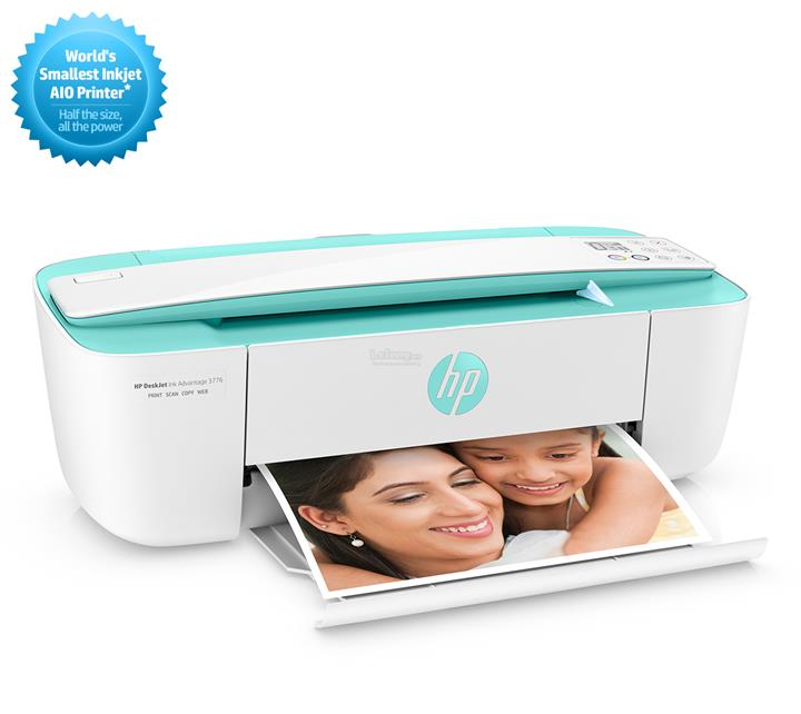 HP DeskJet Ink Advantage 3776 AIO Printer (PRINT,COPY,SCAN,WIRELESS)