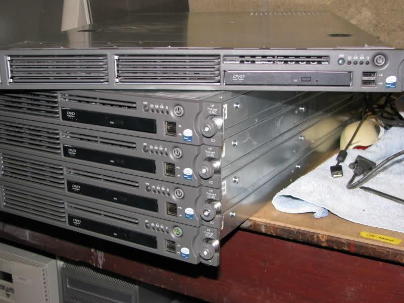 HP DL140 G3 SERVER ,1u rack  Quad Xeon