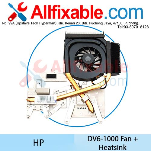 HP DV6-1000 Series Fan + Heatsink