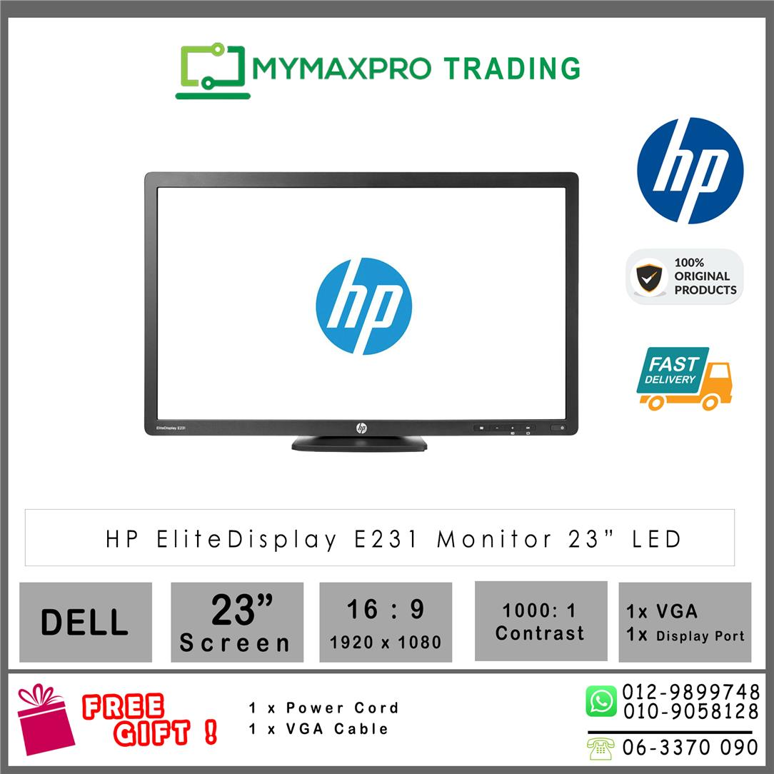 "HP EiteDisplay E231 23"" LCD Monitor 1920x1080 VGA HDMI 250cd/m2"