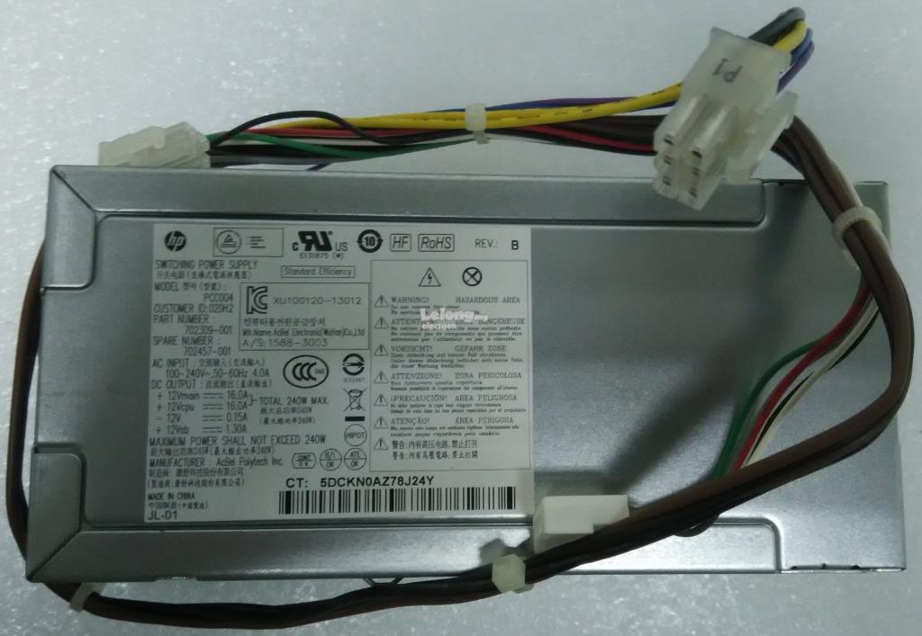 HP Elitedesk 800 G1 G2 SFF Power Supply PSU 702309-001 702457-001