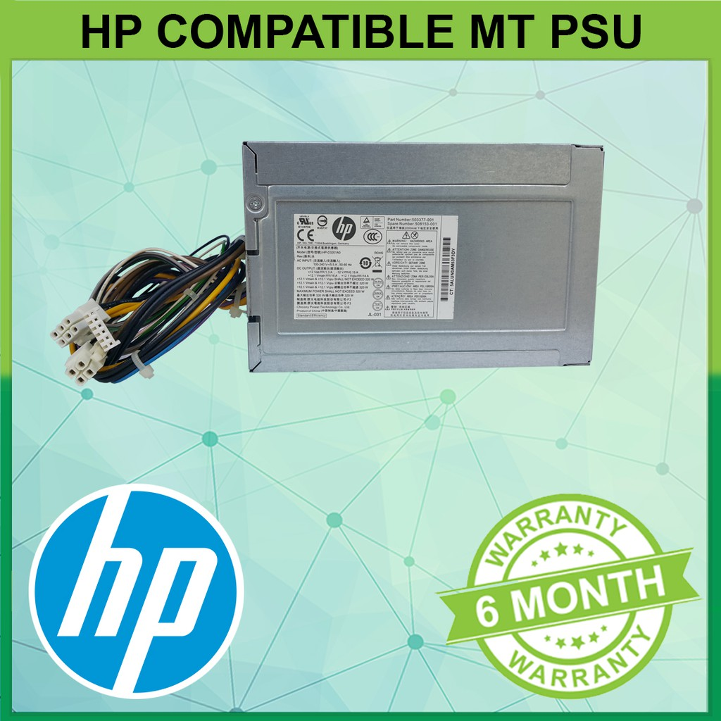 HP EliteDesk 800 G2 MT 320W Power Supply 702454-001 508153-001 (REF)