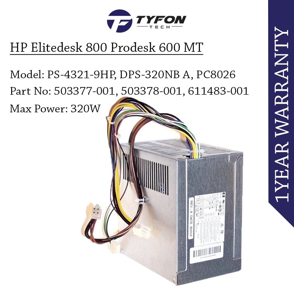 HP Elitedesk 800 Prodesk 600 320W MT Power Supply PSU 702306-001 70245
