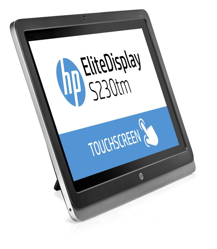 HP EliteDisplay S230Tm LED 23' 1920x1080 Monitor Touch Screen DVI DP