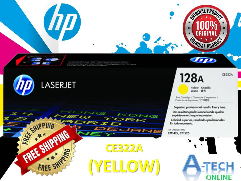 HP GENUINE ORIGINAL COLOUR TONER HP 128A - CE322A (YELLOW)