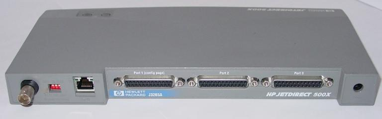 HP JetDirect 500X - 3 port Parallel - 10/100TX