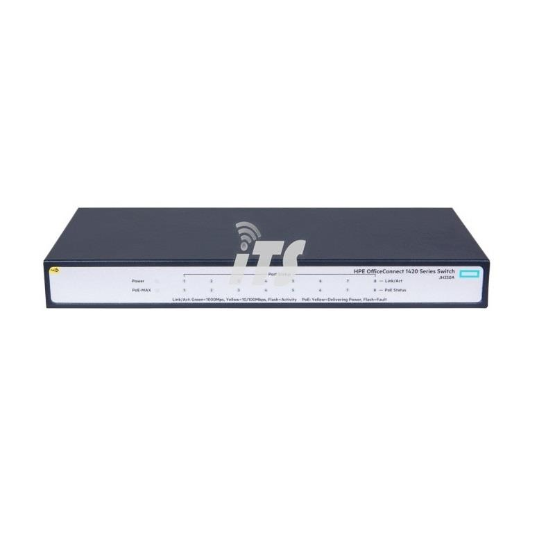 HP OfficeConnect 1420 8G PoE+ (64W) Switch (JH330A)