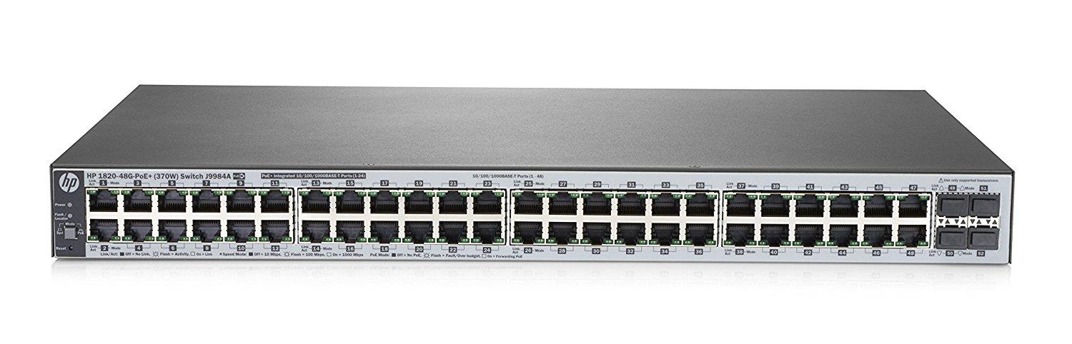 HP OfficeConnect 1820 48G PoE+ (370W) Switch J9984A
