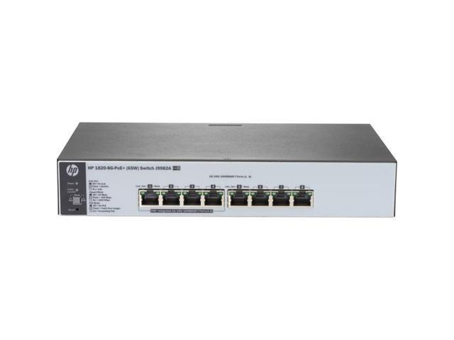 HP OfficeConnect 1820 8G PoE+ (65W) Switch J9982A