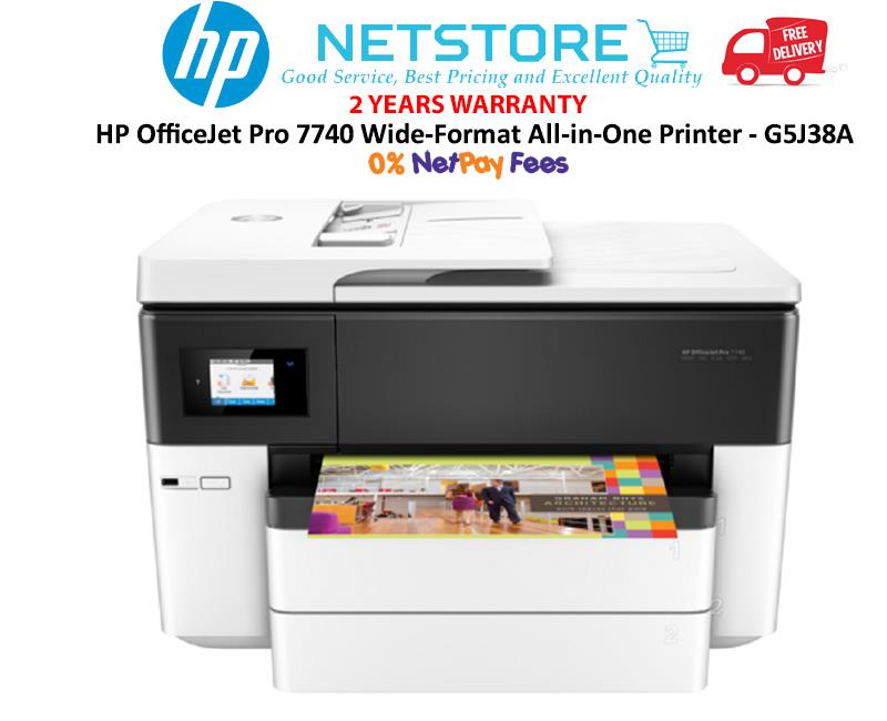 Best All In One Printer & Photo Printer Large Format 2020 HP OfficeJet Pro 7740 Wide Format AI (end 4/21/2020 5:15 PM)