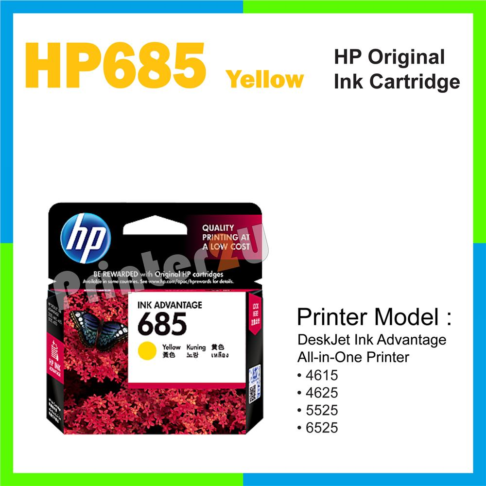 HP Original Inkjet Ink Cartridge HP 685 Yellow 4615 4625 5525 6525