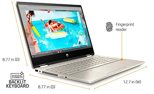 "..// HP Pavilion x360 14 "" FHD Touchscreen 2-in-1 Convertible Laptop, Int"