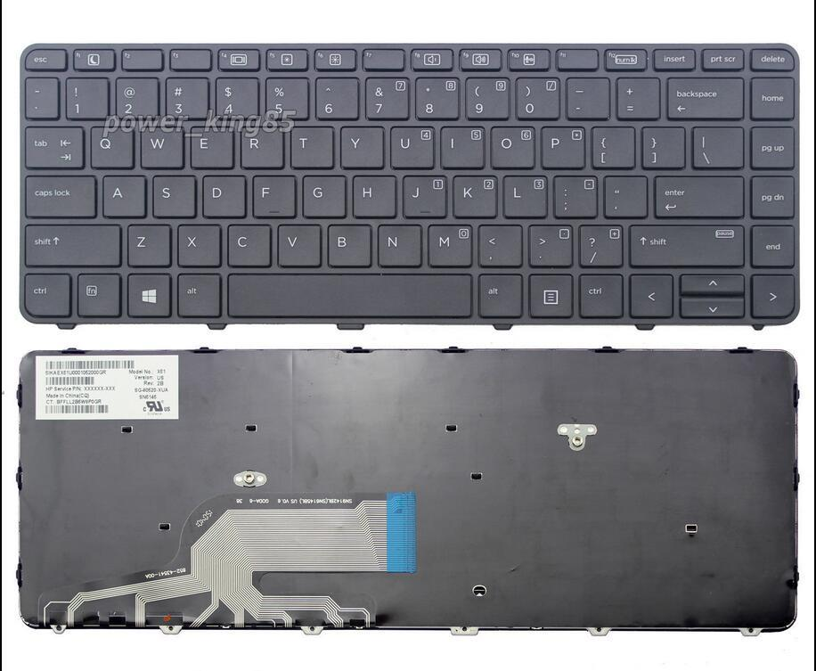 HP Probook 430 G3 440 G3 445 G3 Series Laptop Keyboard US
