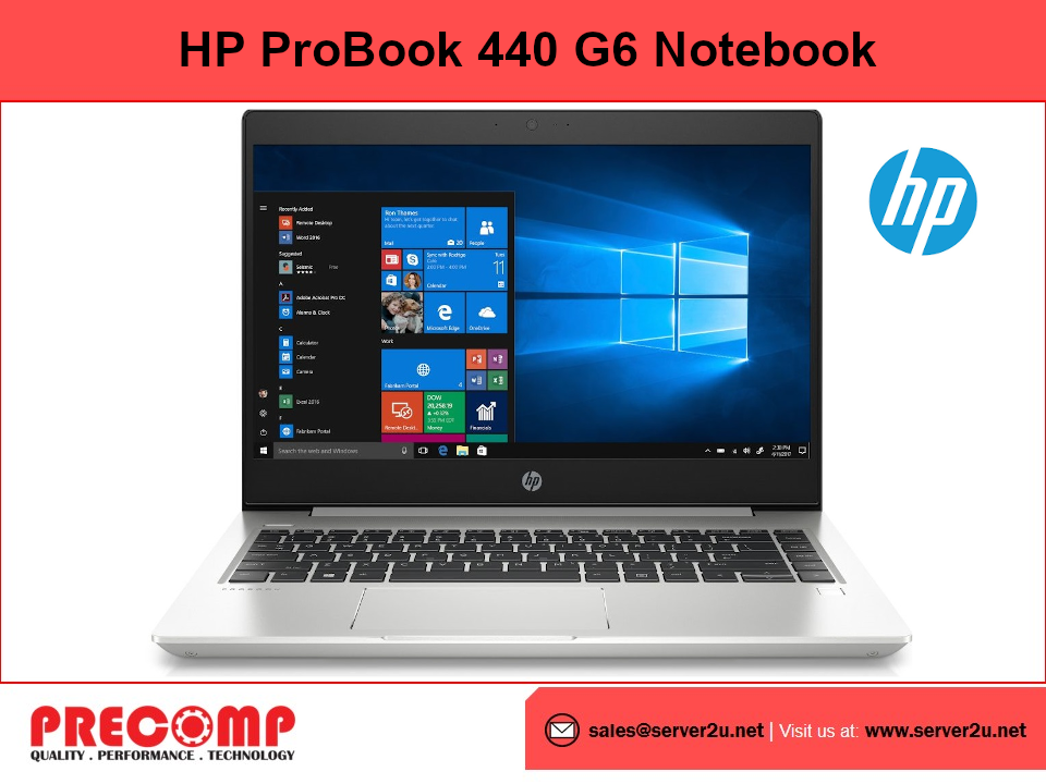 HP ProBook 440 G6 Notebook PC (i7-8565U.8GB.256GB) (7LU86PA)
