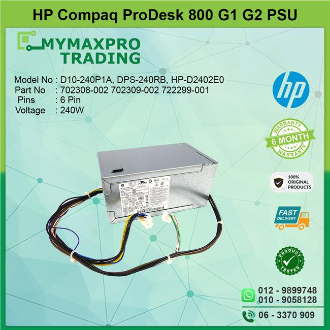 HP Prodesk 800G1 800G2 SFF 240W Power Supply PSU 702308-002 702309-002