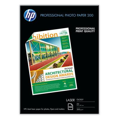 HP Prof. Glossy LASER Photo Paper 200 A4 100's (CG966A)