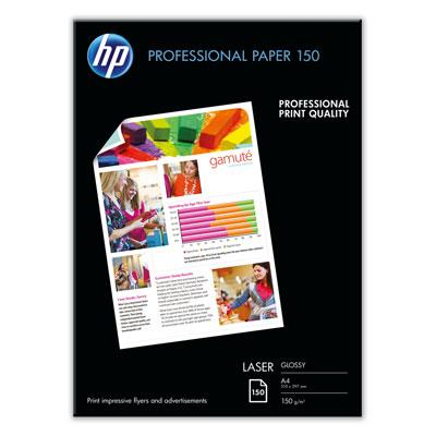 HP Professional Glossy LASER Paper 150GSM  A4 150'S (CG965A)