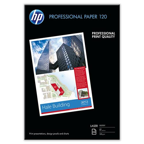 HP Professional Glossy LASER Paper A3 / 250 sheets / 120g