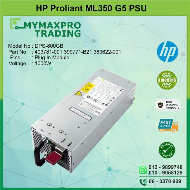 HP Proliant Server Power Supply 1000W 379123-001 403781-001 399771-B21