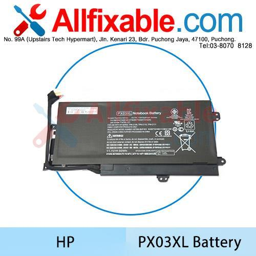 HP PX03XL Envy 14-K124TX K125TX K126TX K127TX K128TX K131TX Battery