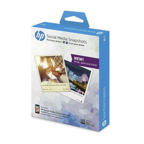 HP Social Media Snapshots Removable Sticky Photo Paper (K6B83A)