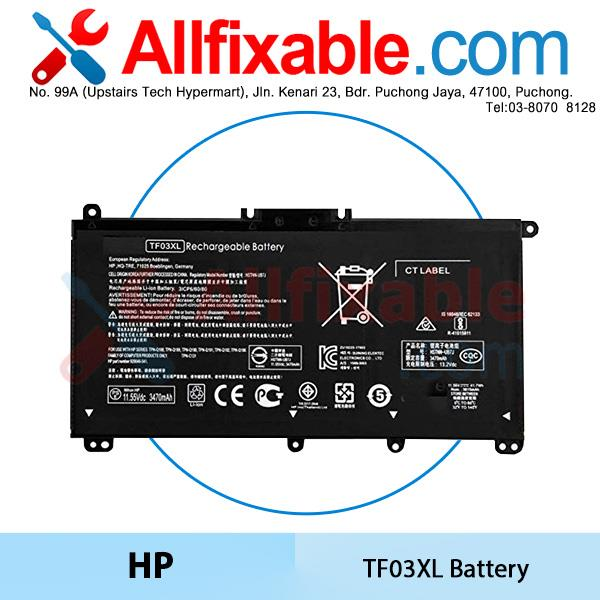 HP TF03XL Pavilion x360 14-cd1301ng cd1400ng cd1509sa cd1700nz Battery