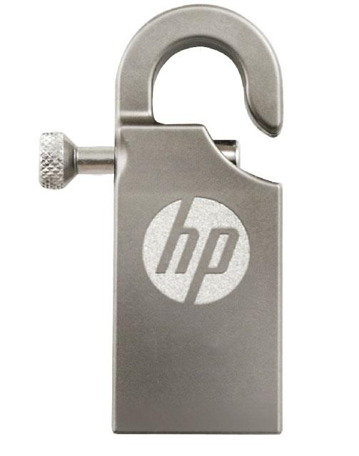 HP USB 2.0 STAINLESS STEEL CARABINER HOOK THUMB DRIVE V251W 16GB